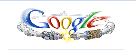 Google Logo celebrates the LHC