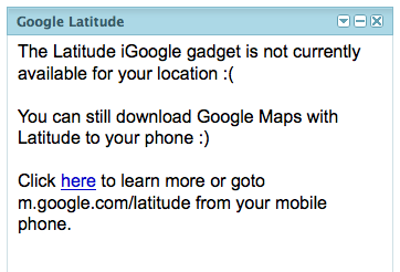 iGoogle UK version