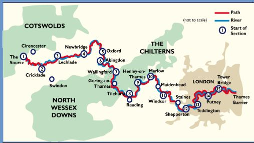 Thames Map (screenshot from National Trails site)