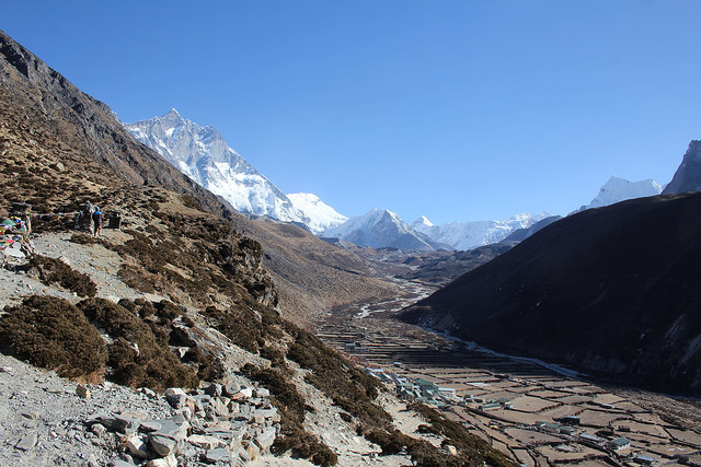Acclimatisation walk at Dingboche
