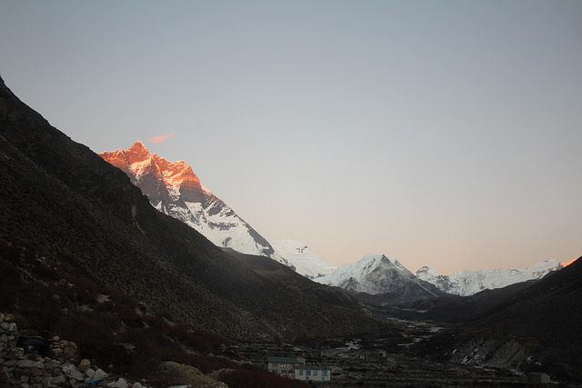 Sunset from Lobuche