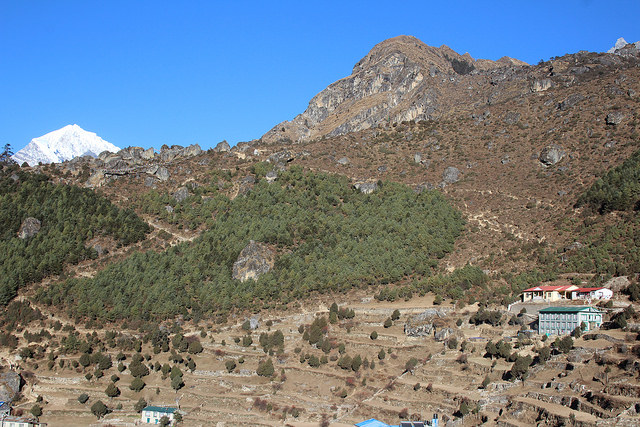 Leaving Namche Bazar