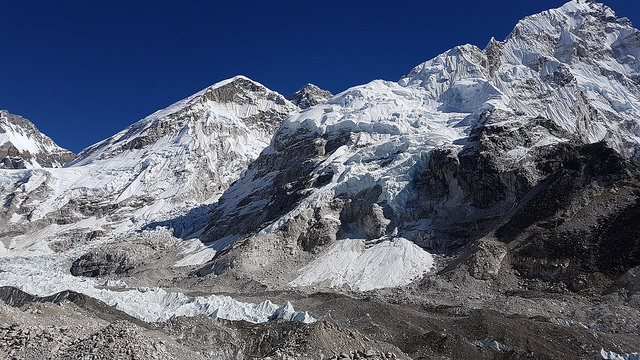 A glimpse of Everest from Base Camp