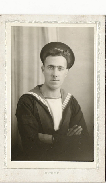 Jack Harrison in his Navy Uniform