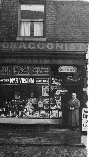 Beatrice Robinson (nee Lee) and the Tobacconist shop