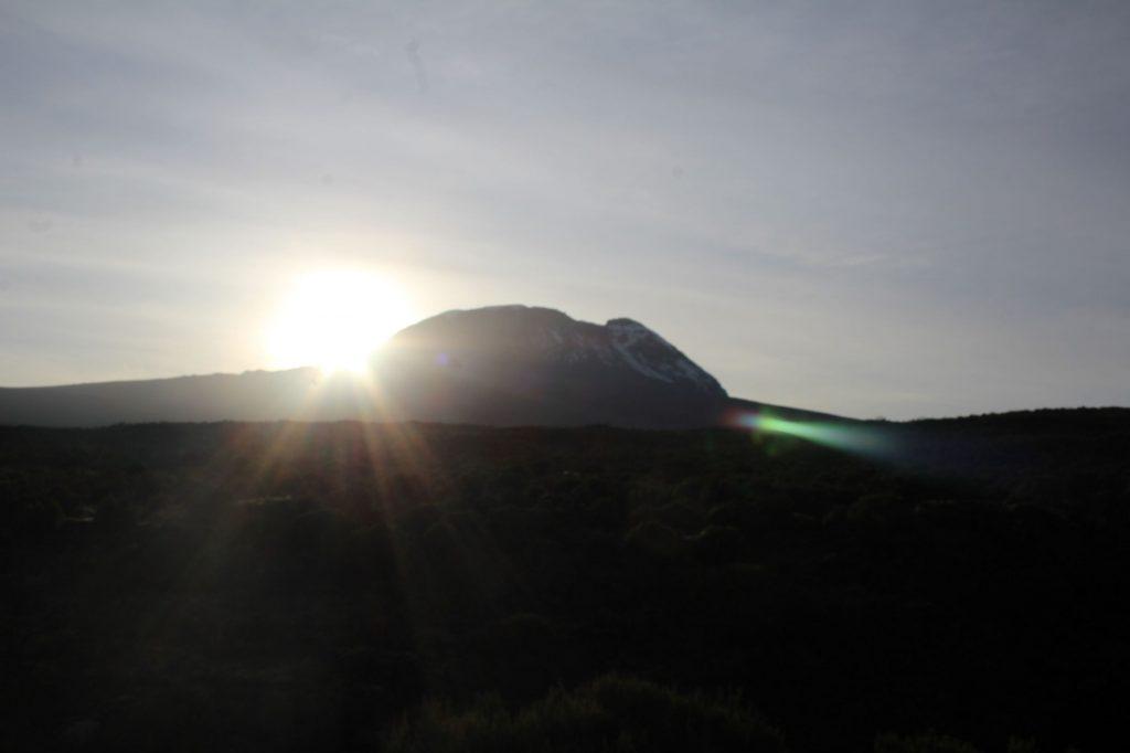 Sun rising over Kibo, Kilimanjaro
