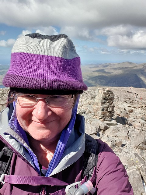 a picture of me, with Scafell Pike trip point behind